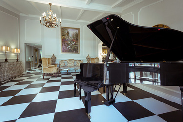 The piano lounge at Fairlawns Boutique Hotel and Spa in Johannesburg, South Africa