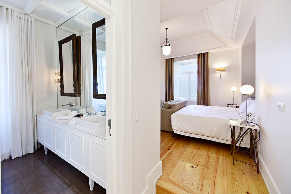 The Junior Suite at Santiago de Alfama in Lisbon, Portugal.