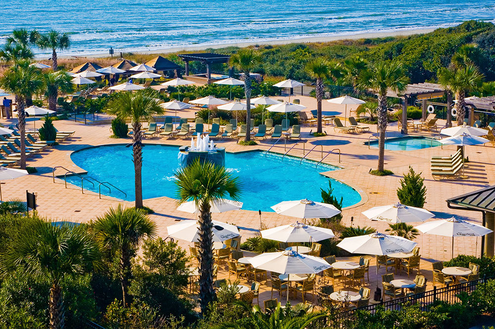 The oceanfront pools at The Sanctuary at Kiawah Island on Kiawah Island
