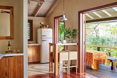 The kitchen of a Beach Villa at GoldenEye in Oracabessa, Jamaica