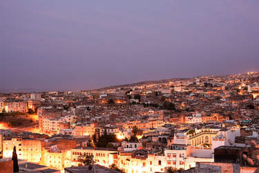A stunning view of la Medina from the Palais Amani Hotel in Fez, Morocco