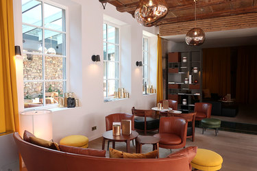 The lounge at 5 Terres Hôtel and Spa in Barr, France