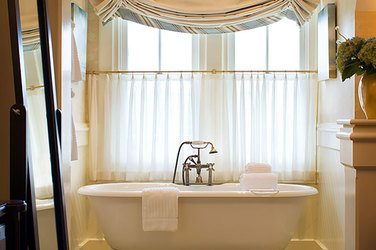 Lighthouse Suite bath at Castle Hill Inn in Newport, Rhode Island