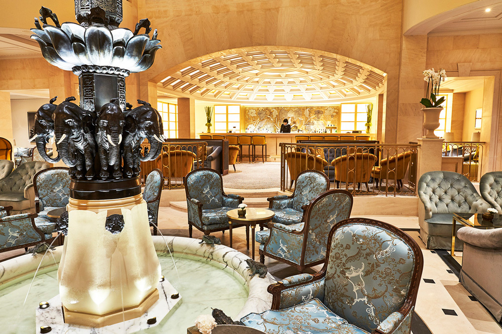 The Lobby Fountain at Hotel Adlon Kempinski in Berlin, Germany