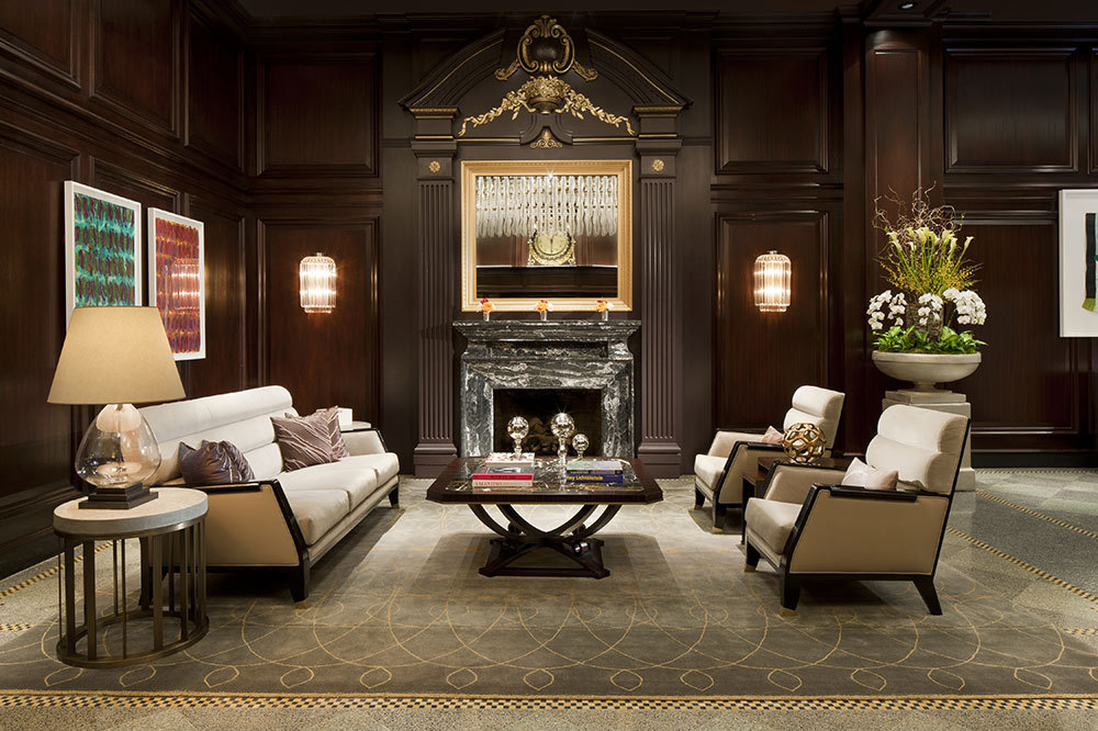 The lobby at The Rosewood Hotel Georgia in Vancouver, Canada
