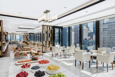 The Lounge Buffet at The Langham in Chicago, Illinois