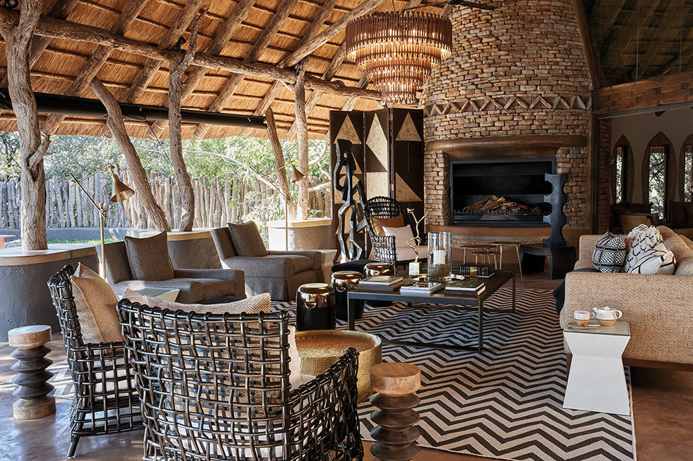 Lounge at Singita Pamushana Lodge in Malilangwe Wildlife Reserve, Africa