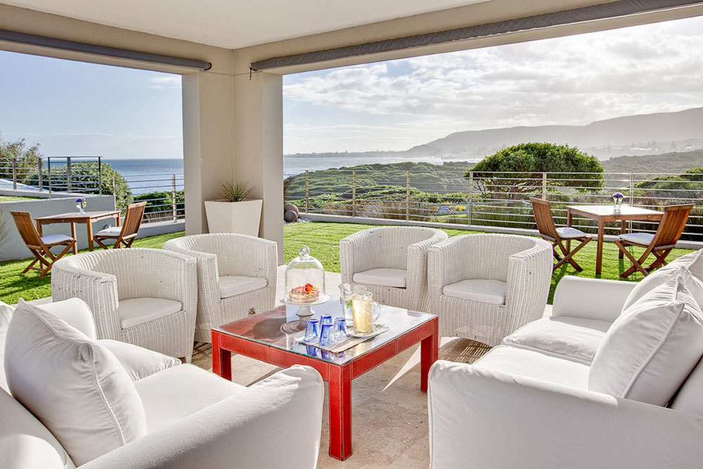 The lounge at Birkenhead House in Hermanus
