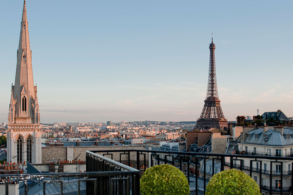 The view from the Four Seasons Hotel George V Paris