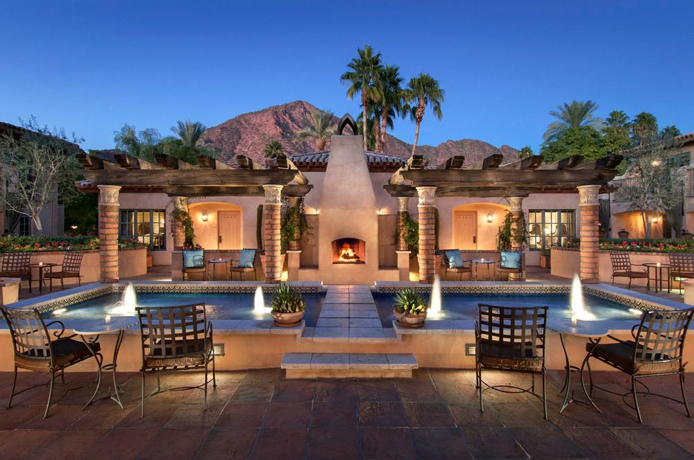 The Montevista Reflecting Pool At Royal Palms Resort And Spa In Phoenix Arizona