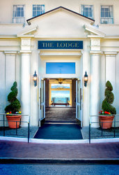 Entrance of The Lodge at Pebble Beach