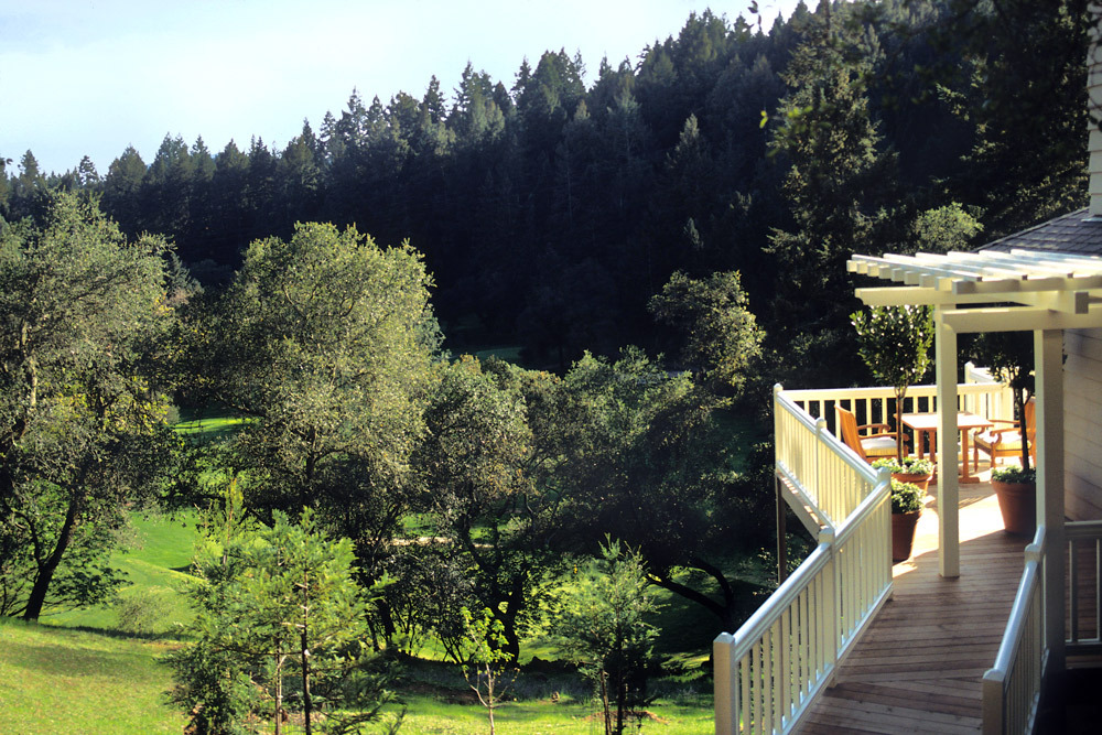 Meadowood Napa Valley deck view