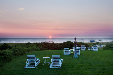 The view of the sunset from The Wauwinet in Nantucket, Massachusetts