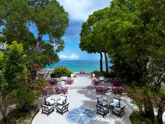 The view from a balcony at Sandy Lane in Barbados