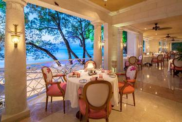 L'Acajou restaurant at Sandy Lane in Barbados