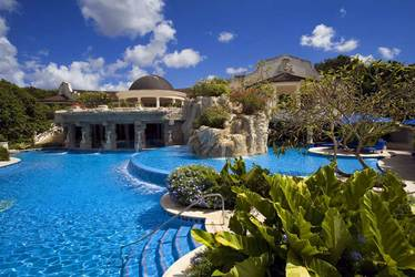 The pool at Sandy Lane in Barbados