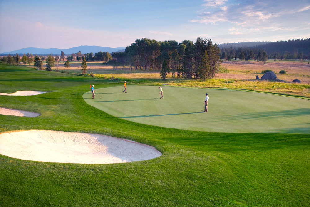 The golf course at the Shore Lodge in McCall, Idaho.