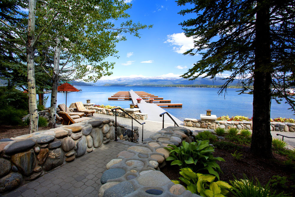 The view of Payette Lake from the docks at the Shore Lodge in McCall, Idaho.