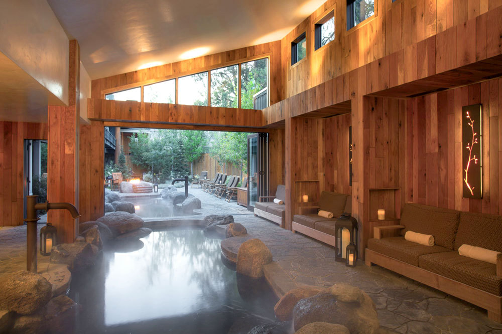 The Cove Spa immersion pool at the Shore Lodge in McCall, Idaho.