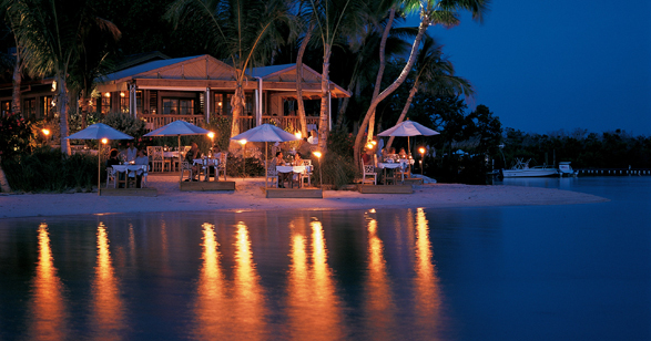 Little Palm Island Resort at night
