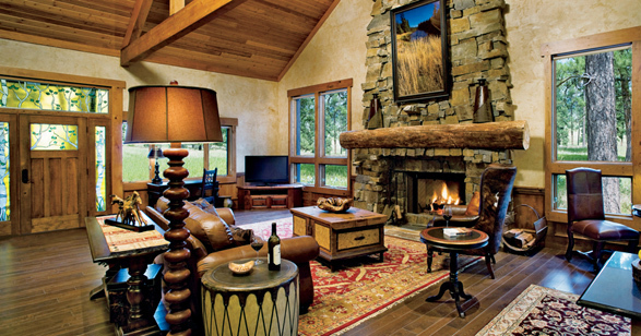 Paws Up Montana Fireplace