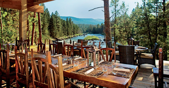 Paws Up Montana Dining Pavillion