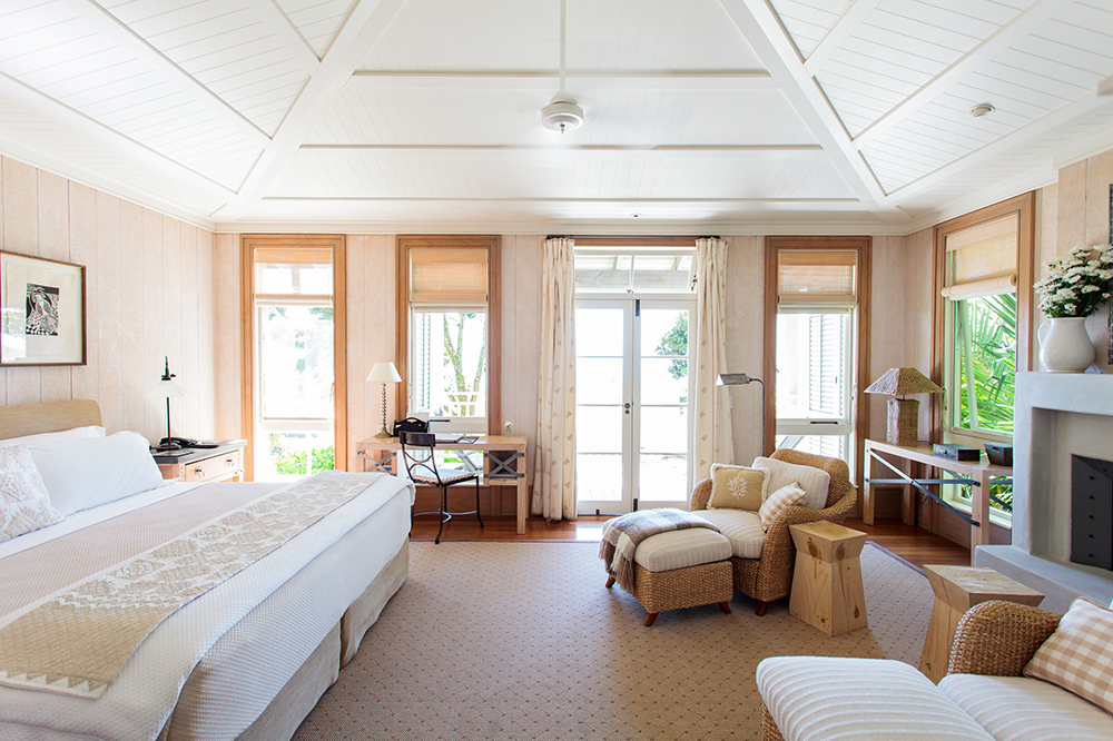 A suite at The Lodge at Kauri Cliffs in Matauri Bay, New Zealand