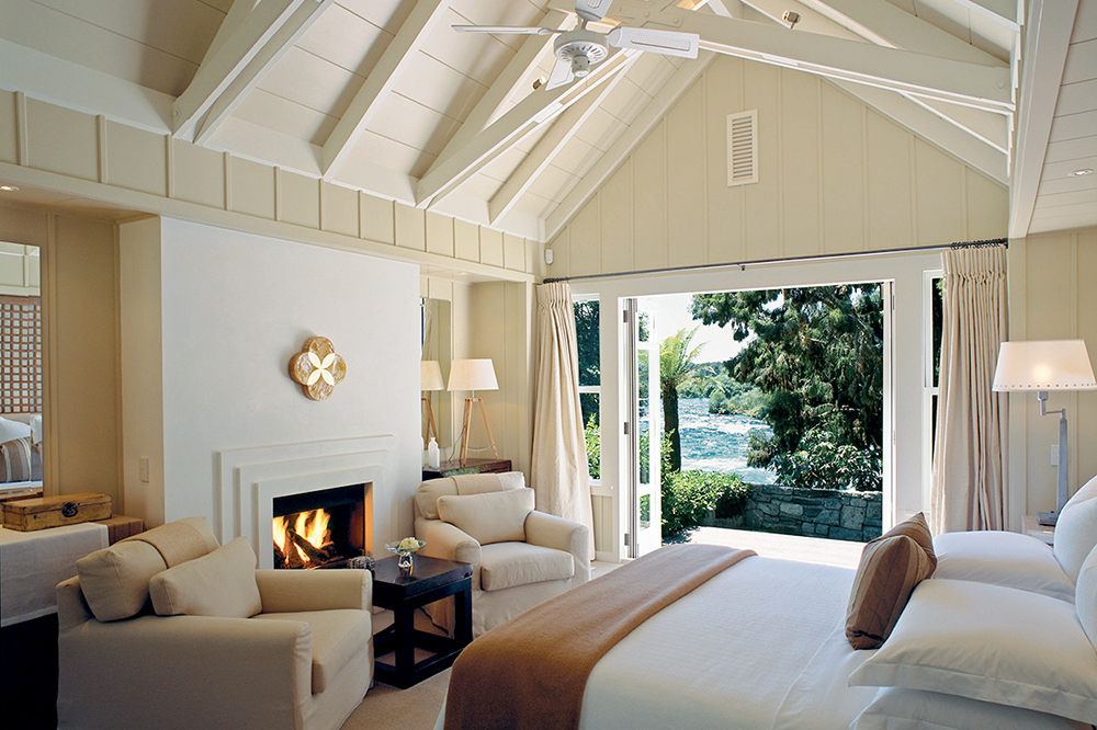 The Owner's Cottage room at Huka Lodge in Taupo, New Zealand