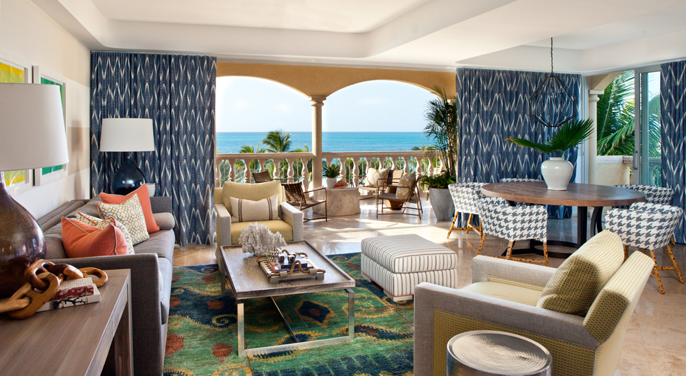 Villas Suites living room at Grace Bay Club
