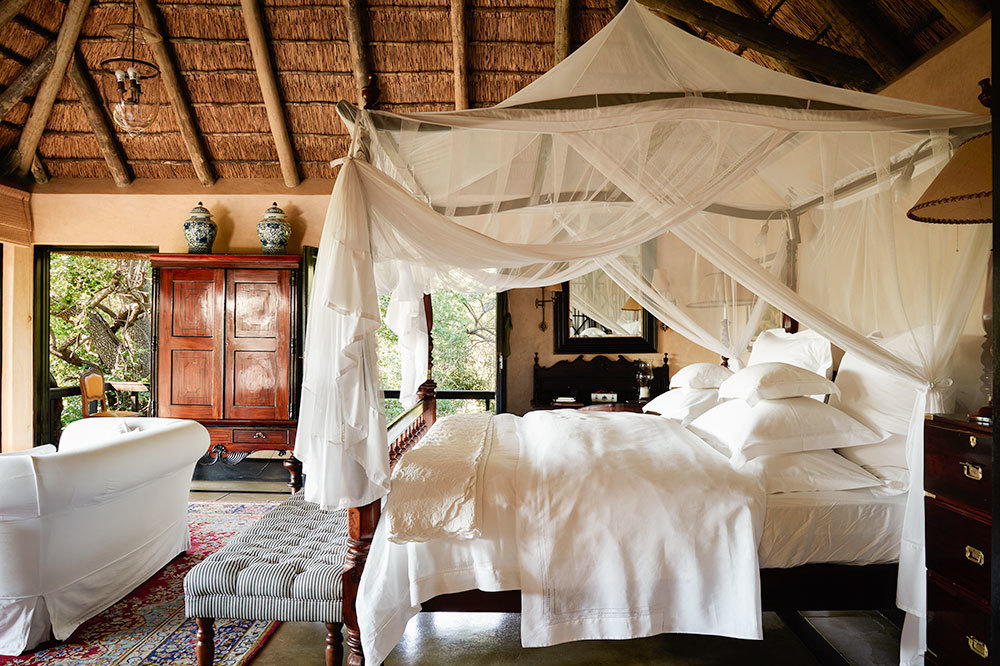 Luxury Suite with canopy bed at Royal Malewane in South Africa