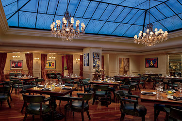 M Bistro dining room at Ritz-Carlton's Maison Orleans in New Orleans, Louisiana