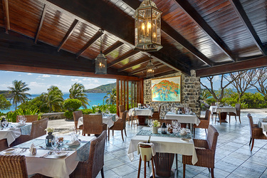The Main Restaurant at Petit St. Vincent on Petit St. Vincent Private Island, Saint Vincent and the Grenadines