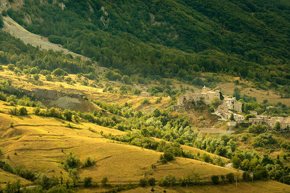 A village located in the valley of Majella National Park in Abruzzo, Italy