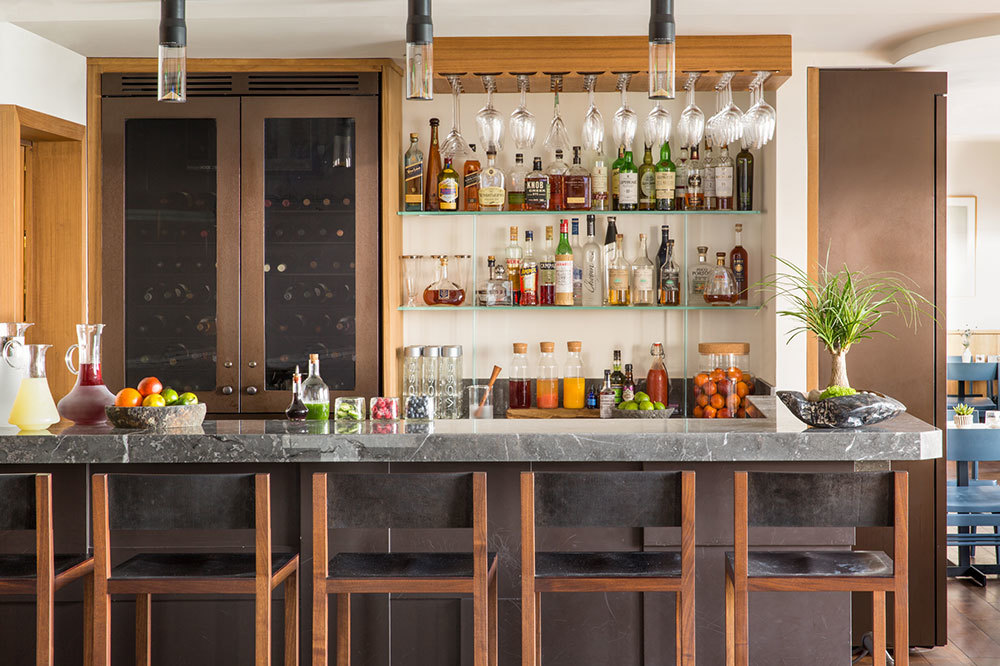 The bar at Malibu Beach Inn in Malibu, California