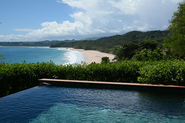 The view from the pool of a mandaka at Nihi Sumba on Sumba Island, Indonesia