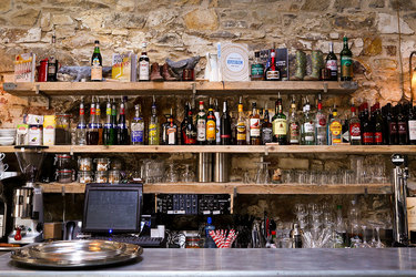 Bar at the Duck Terrace Restaurant at Marlfield House of Gorey, Ireland
