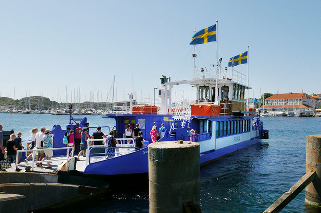 The ferry boat we boarded to cross the harbor in Marstrand, Sweden - Photo by Hideaway Report editor