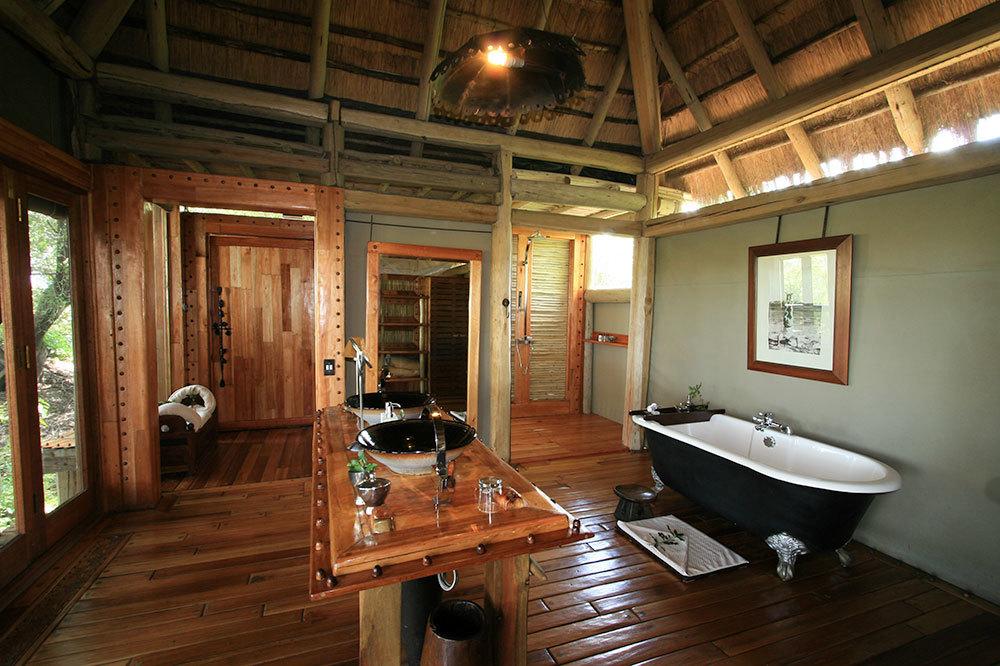 Master Bath at Jao Camp in Botswana, Africa