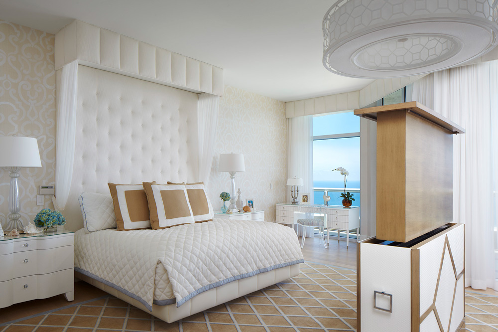 The Master Bedroom at Acqualina and Spa in Miami, Florida