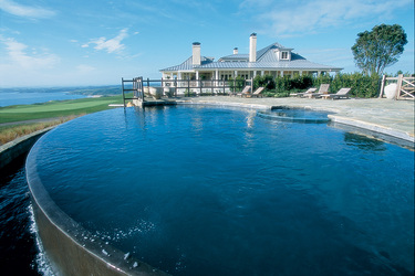 The pool at The Lodge at Kauri Cliffs in Matauri Bay, New Zealand