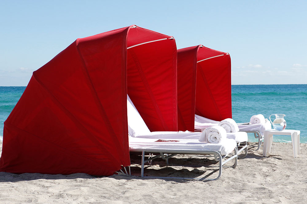 Acquabeds at Acqualina Resort & Spa in Miami, Florida