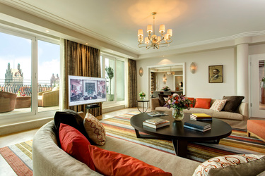 The Monforte Suite Livingroom at The Charles Hotel in Munich, Germany