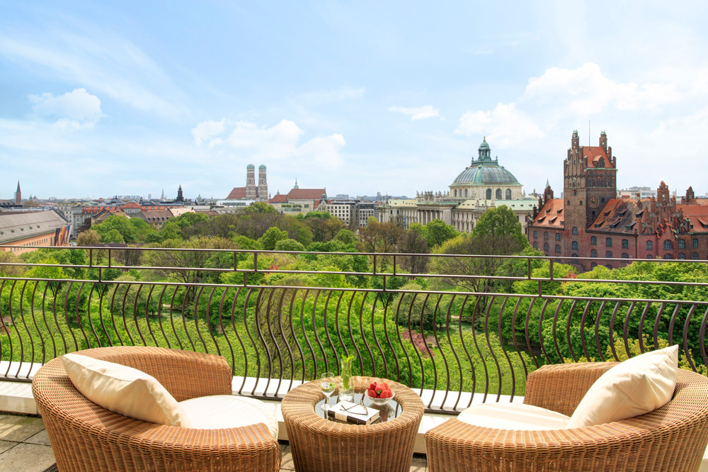 The Terrace City View at The Charles Hotel in Munich, Germany