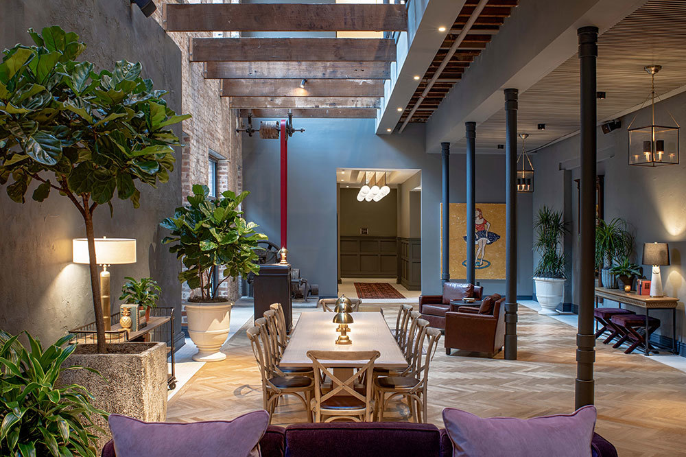 The lobby at Eliza Jane in New Orleans, Louisiana