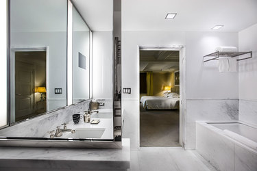The master bath of the Two Bedroom Suite at The Mark in Manhattan, New York