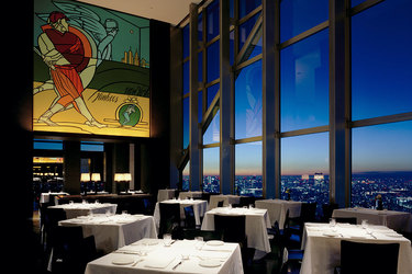 New York Grill Restaurant with city top views at Park Hyatt Tokyo in Tokyo, Japan