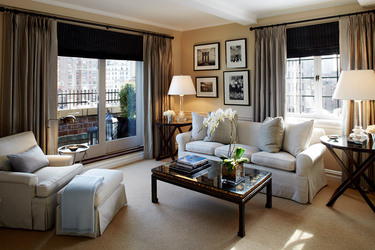 Sitting room of the Manhattan Suite at The Lowell in Manhattan borough, New York City, New York