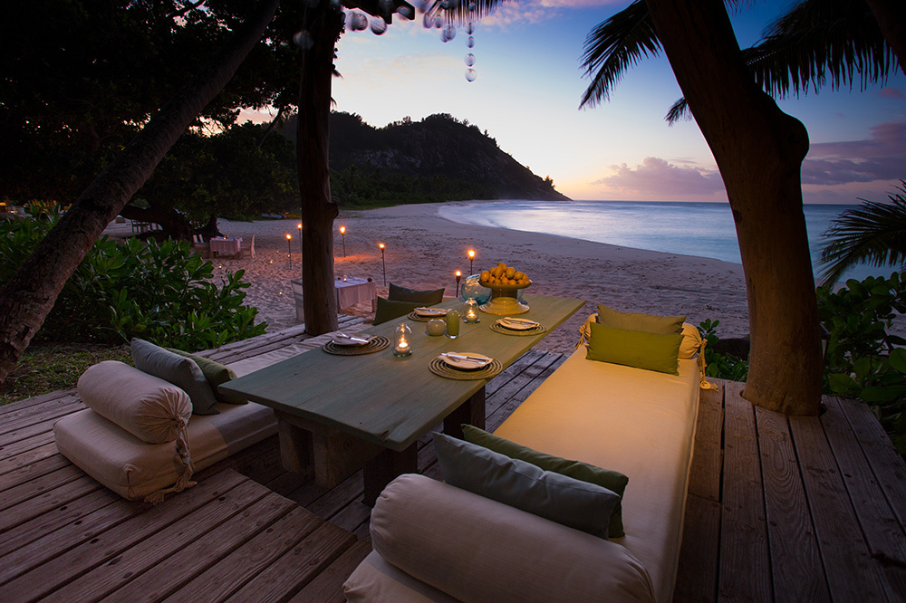 Private dining at North Island in Seychelles