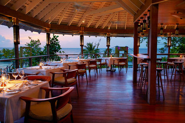 The Gazebo restaurant at GoldenEye in Oracabessa, Jamaica