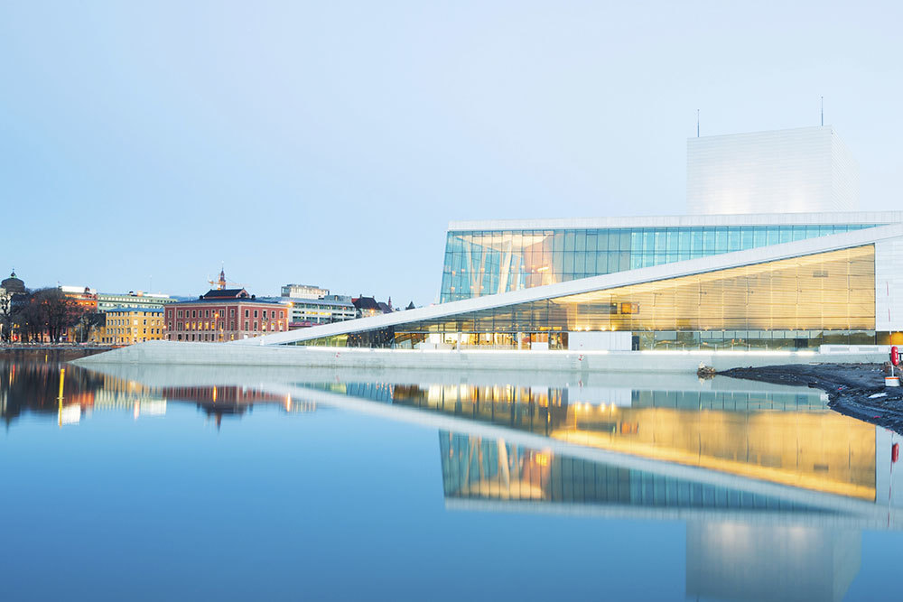 The Oslo Opera House in Oslo, Norway